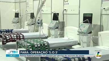 11 pessoas são presas pela PF em investigação sobre desvios de recursos da Saúde no Pará - Segundo a PF, todos os 41 mandados de busca e apreensão foram cumpridos. Um alvo da operação está foragido. Entenda como funcionava o desvio de verbas da saúde no estado.