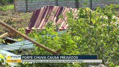 Forte chuvas causam prejuízos em Santarém - Confira.