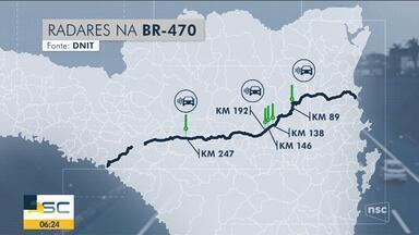 Novos radares são instalados na BR-470 - Novos radares são instalados na BR-470
