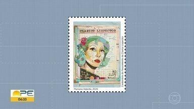 Selo comemorativo marca centenário de Clarice Lispector - Arte é da neta da escritora, Mariana Valente.