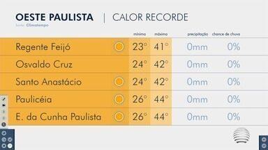 Tiago Rodrigues conta como ficam as temperaturas no Oeste Paulista - Confira a previsão do tempo para esta quinta-feira (1º).