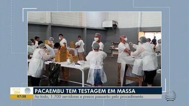 Trabalhadores e detentos do CPP de Pacaembu fazem teste rápido para detectar a Covid-19 - Já foram testados 1.241 presos e 54 servidores.