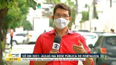 Prefeitura diz que aulas presenciais em escolas municipais de Fortaleza não voltam em 2020 - Saiba mais em g1.com.br/ce