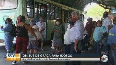 Idosos voltam a ter ônibus de graça a partir desta quinta-feira - Veja quem pode ter o benefício.