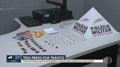 Polícia prende 3 pessoas suspeitas de tráfico de drogas no Centro de BH - As prisões e apreensão foram possíveis com o sistema de segurança Olho Vivo.