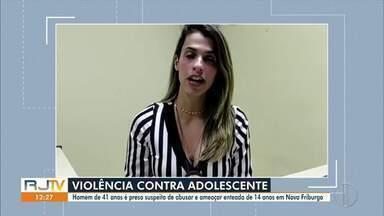 Homem é preso suspeito de estuprar a enteada de 14 anos em Nova Friburgo, no RJ - Vítima contou o caso para a mãe nesta quarta-feira (30) e a prisão foi realizada. Crime aconteceu no dia 14 de setembro, de acordo com a polícia.