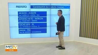 Eleições Carlos Chagas: confira os quatro candidatos a prefeito - Primeiro turno das eleições municipais ocorre no dia 15 de novembro.