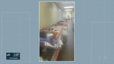 Dois princípios de incêndio provocam correria na emergência do Hospital Lourenço Jorge - Pacientes tiveram que ser retirados às pressas da emergência da unidade.