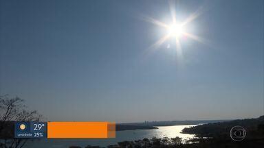 O DF enfrenta as temperaturas mais altas do ano - Previsão de chuva só no fim de semana.