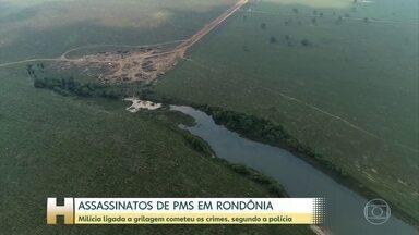 Milícia ligada a grilagem é suspeita no assassinato de dois PMs em Rondônia - Uma das vitimas foi atacada enquanto fazia um passeio com a família. A outra morreu tentando resgatar o corpo do colega.