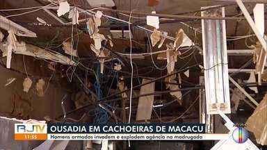 Homens armados invadem e explodem agência em Cachoeiras de Macacu, no RJ - Os moradores relataram, pelo menos, três explosões.