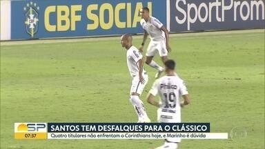 Corinthians e Santos se enfrentam nesta quarta-feira - Corinthians chega para o clássico pressionado, enquanto o Santos está em boa fase.