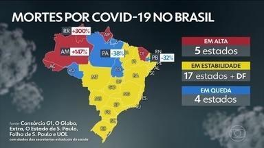 Brasil passa de 147 mil mortes por Covid; casos se aproximam de 5 milhões - País tem 147.759 óbitos registrados e 4.978.531 diagnósticos de Covid-19, segundo dados das secretarias estaduais de Saúde.