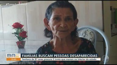 Desaparecidos: idosa de 81 anos procura duas irmãs que moram no interior da Bahia - Quem tiver informações sobre as pessoas procuradas deve entrar em contato através dos telefones que aparecem no vídeo.