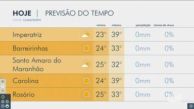 Veja as variações das temperaturas no Maranhão - Confira a previsão do tempo na manhã desta sexta-feira (9) em São Luís e também no interior do estado.
