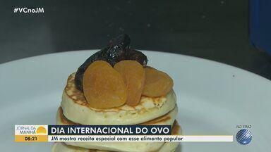 Chef de cozinha ensina uma receita especial de panqueca; veja o preparo - Nesta sexta-feira (9), é comemorado o Dia Internacional do Ovo.