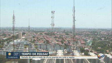 Confira a previsão do tempo para esta segunda-feira (12) na região de Campinas - Feriado de calor e nada de chuva prevista em toda a região.