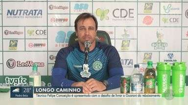 Técnico Felipe Conceição é apresentado no Guarani - Conceição assume o desafio de livrar o Guarani do rebaixamento.