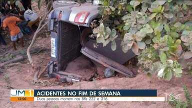 Duas mortes registradas em acidentes nas BRs 222 e 316 no fim de semana - Três acidentes foram registrados somente na região do Vale do Pindaré.