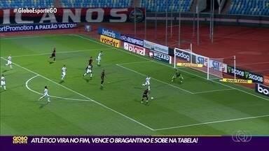 Atlético-GO vence o Bragantino de virada e se recupera na Série A - Janderson e Matheuzinho marcam, e Dragão volta a vencer após cinco rodadas.