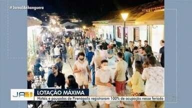 Pirenópolis registra lotação máxima durante feriado prolongado - Pousadas não tinham mais vagas.
