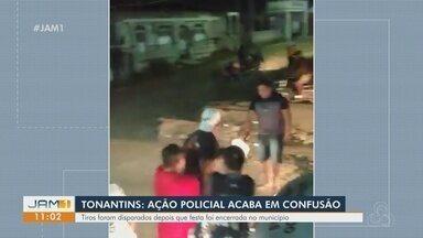 Homem dá tiros ao chão e deixa um ferido em confusão por causa de caixa de som no AM - Vídeo mostra momentos em que tiros são efetuados na cidade de Tonantins, no Amazonas.