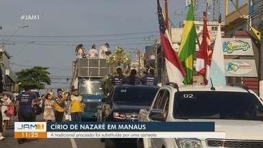 Em Manaus, tradicional procissão do Círio de Nazaré é substituída por carreata - Em Manaus, tradicional procissão do Círio de Nazaré é substituída por carreata.