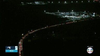 BR-101 tem trânsito na volta do feriadão do Dia das Crianças - Na rodovia estadual PE-60, não houve registro de tráfego.
