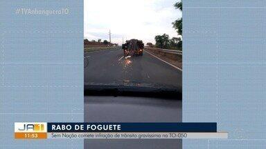 QVT: telespectador faz imagens de infração de trânsito gravíssima na TO-050 - QVT: telespectador faz imagens de infração de trânsito gravíssima na TO-050