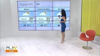 Veja a previsão do tempo para as cidades do interior do Rio - Confira as temperaturas dos municípios para esta quarta-feira (14).