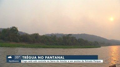 Fogo está sob controle na Serra do Amolar e em pontos da Estrada Parque, no Pantanal - Fogo está sob controle na Serra do Amolar e em pontos da Estrada Parque, no Pantanal