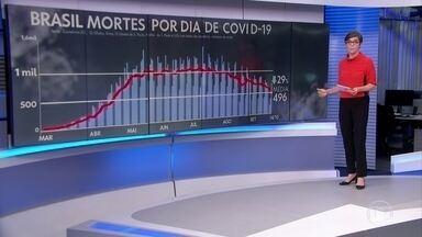 Brasil registra 716 mortes por Covid-19 em 24 horas - A média móvel de novos casos é de 19.877 por dia.