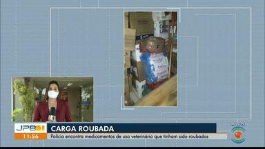 Polícia recupera carga roubada de medicamentos, no Cariri da Paraíba - Medicamentos de uso veterinário foram roubados e encontrados; um homem foi preso.