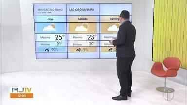 Veja a previsão do tempo para as cidades do interior do Rio - Confira as temperaturas dos municípios para o fim de semana.