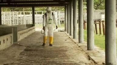 Parque da Pecuária passa por desinfecção para a Expoagro 2020 - Tudo pronto para receber os animais, estrelas da exposição.