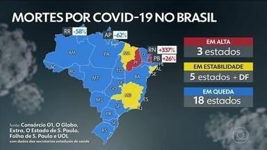 Brasil registra 153.358 mil mortes pela Covid-19, diz consórcio de veículos de imprensa - Veja os números atualizados da pandemia no Brasil.