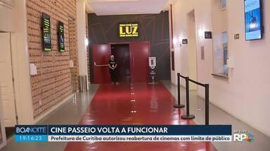 Cine passeio é autorizado a reabrir - A Prefeitura de Curitiba autorizou cinemas abrirem com limite de público.