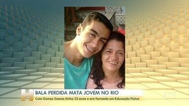 Bala perdida mata jovem de 23 anos dentro de casa no RJ - Caio Gomes Soares foi atingido dentro de casa, no Catumbi, região central da cidade, uma área que vive sob tensão há algum tempo.