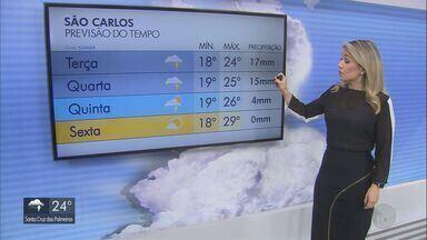 Confira a previsão do tempo para a região nesta terça-feira - Há chances de chuvas em São Carlos.