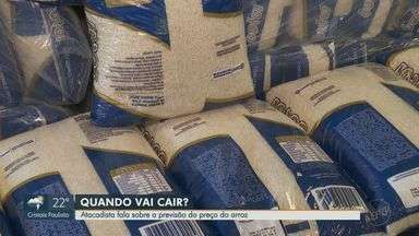 Atacadista comenta alta no preço do arroz nos supermercados em Ribeirão Preto - Segundo ele, existe possibilidade de faltar produto nos estoques.