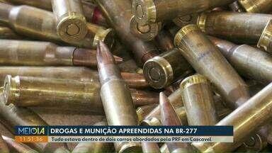 PRF apreende drogas e munição na BR-277, em Cascavel - A Polícia Rodoviária Federal realizava abordagem de rotina quando encontrou os produtos ilícitos.