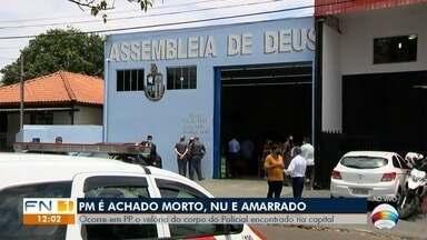 PM morto em São Paulo é velado em Presidente Prudente - Familiares se despedem da vítima.