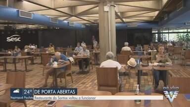 Restaurante do Sesc de Santos volta a funcionar após a nova flexibilização - Confira as regras para o funcionamento do restaurante.
