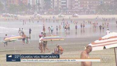 Praia Grande está com inscrições abertas para guarda-vida temporário - Prefeitura está contratando para a temporada de verão.