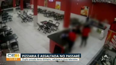 Pizzaria é assaltada no Passaré - Saiba mais no g1.com.br/ce