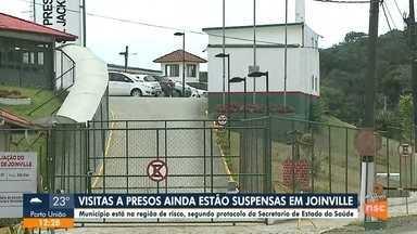 Visitas a presos ainda estão suspensas em Joinville - Visitas a presos ainda estão suspensas em Joinville