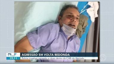 Polícia Civil e OAB investigam caso de agressão a idoso no Cais Aterrado, em Volta Redonda - Dois funcionários do hospital foram afastados e uma sindicância interna foi aberta para apurar o caso. Segundo a polícia, o paciente deu entrada na unidade médica com transtornos psiquiátricos.