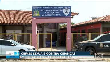 Cai o registro de crimes sexuais contra crianças em São Luís - A polícia acredita que, entre outros fatores, a pandemia pode ter dificultado a denúncia dos crimes e, por isso, aumentado o subregistro.