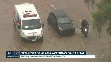 SP2 - Edição de terça-feira, 20/10/2020 - Segundo dia de chuvas fortes alaga avenidas da capital. PM e Prefeitura combatem comércio irregular em operação no Brás.