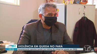 Levantamento aponta queda nos índices de crimes violentos no Pará - Dados são comparativos entre 2019 e 2020.